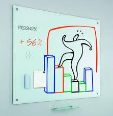 Tabla alba magnetica din sticla,  90 x 120 cm, Smit