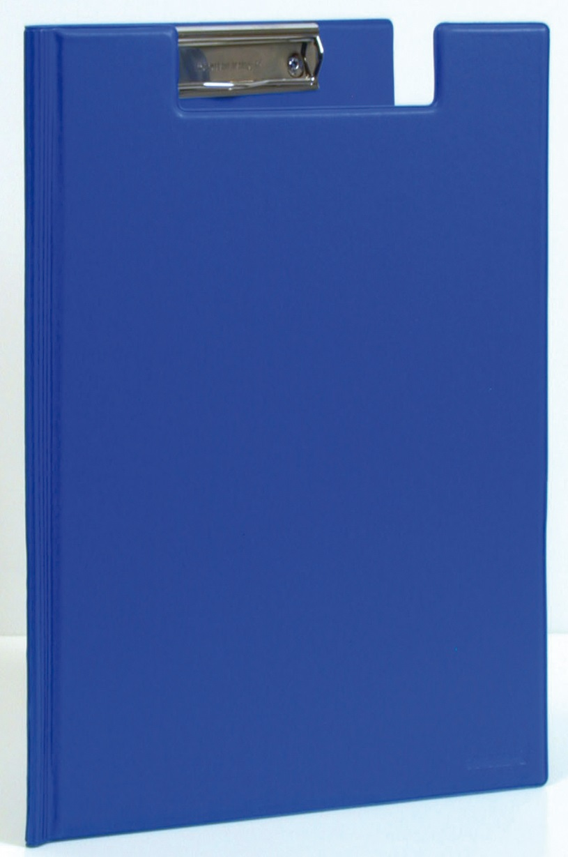 Clipboard dublu, plastifiat PVC, AURORA - albastru