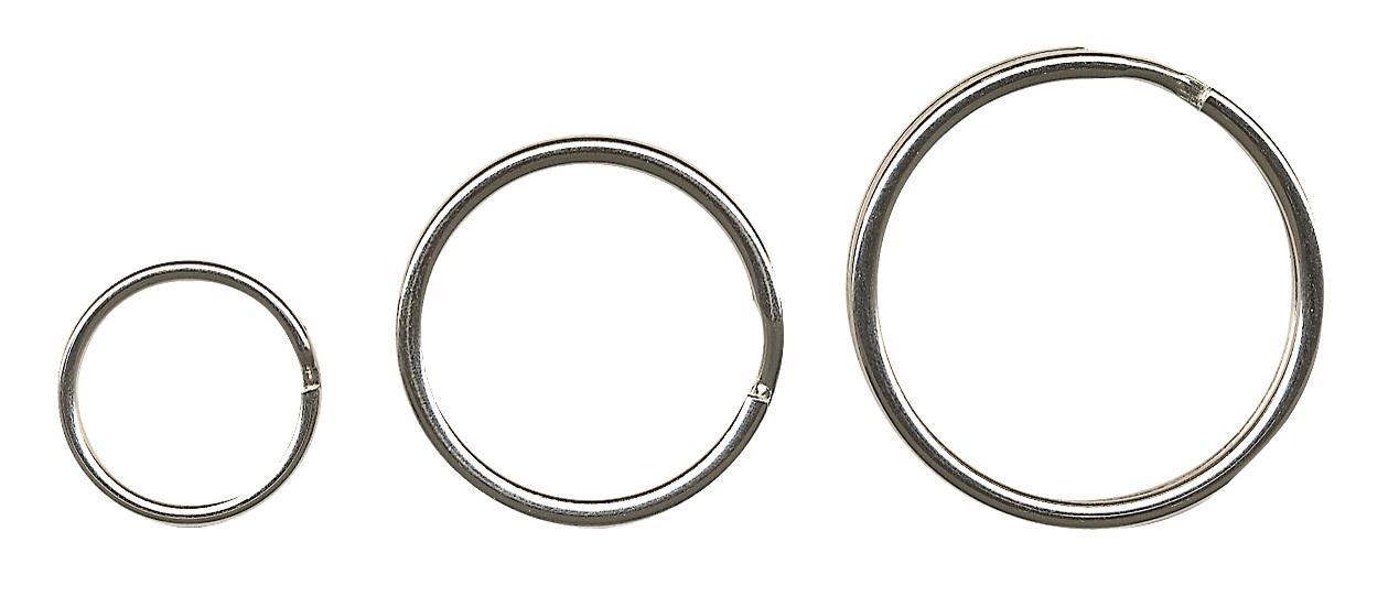 Inele metalice pentru chei, D - 15mm, 100 buc/set, ALCO - argintii