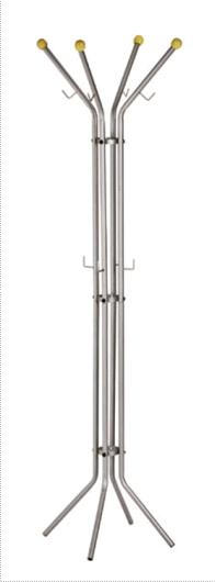 Cuier metalic argintiu Alco, 180/52cm, cu 12 agatatori metalice