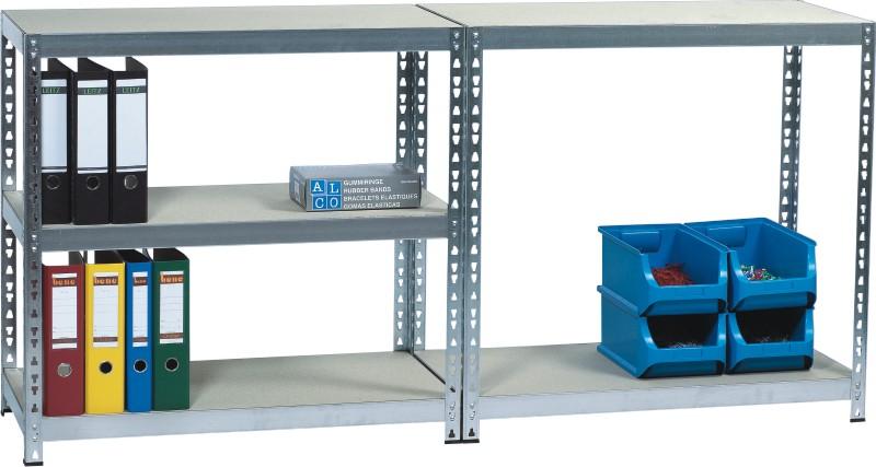 Raft metalic cu  5 polite din lemn, 180 x 46 x 92cm, capacitate incarcare 175kg/polita, ALCO