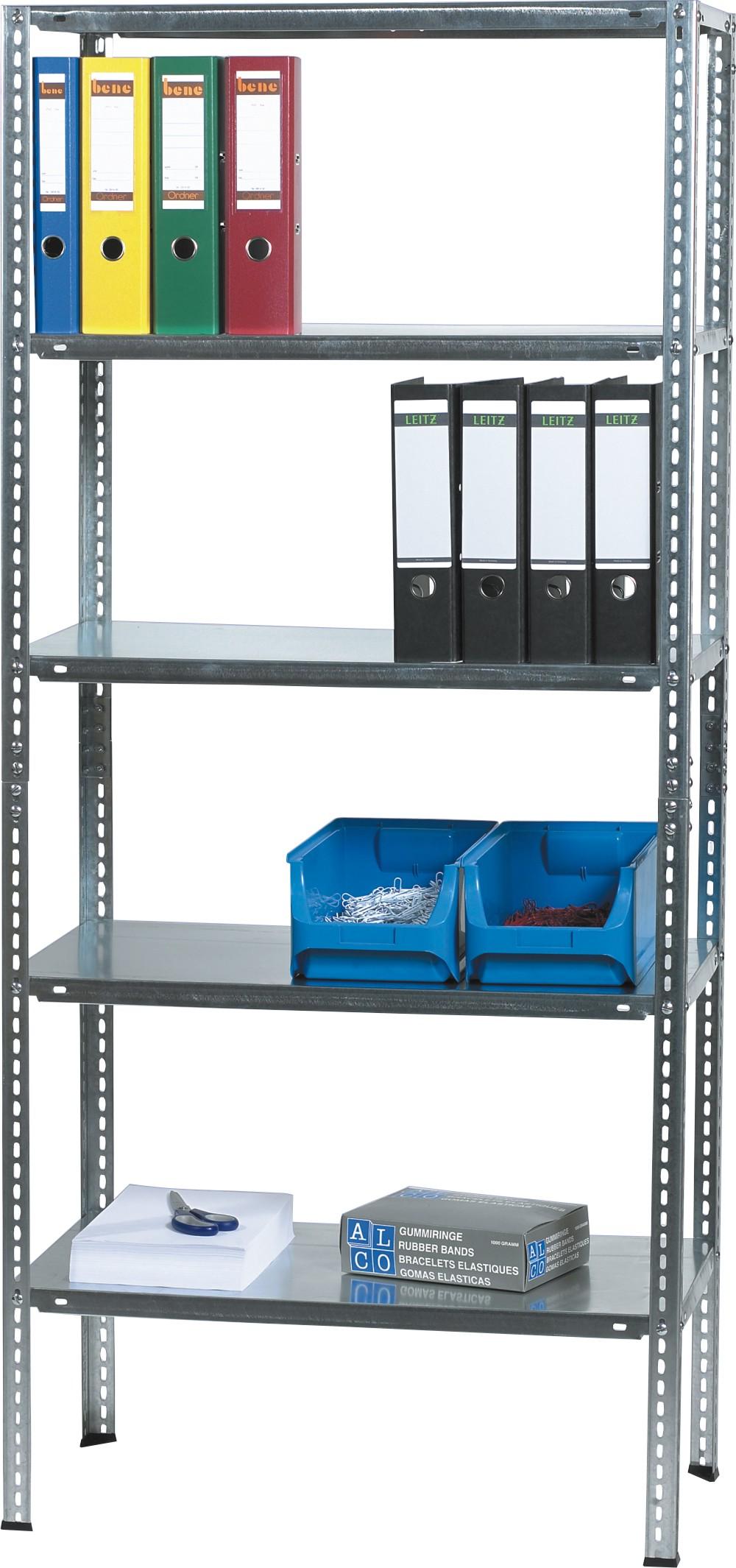 Raft metalic cu  5 polite metalice, 180 x 40 x 80cm, capacitate incarcare 85kg/polita, ALCO