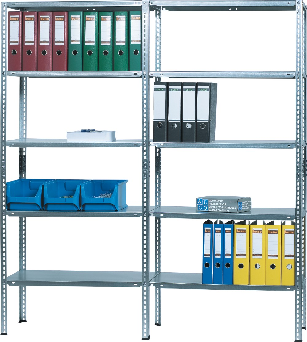 Raft metalic cu 10 polite metalice, 180 x 40 x 160cm, capacitate incarcare 85kg/polita, ALCO