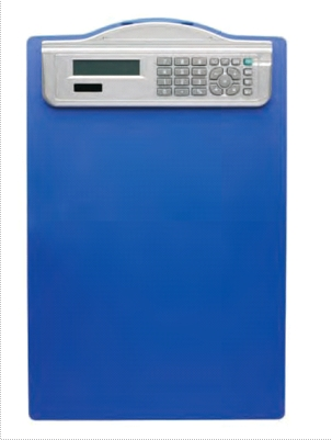 Clipboard simplu A4 albastru, din plastic rigid, cu calculator, Alco