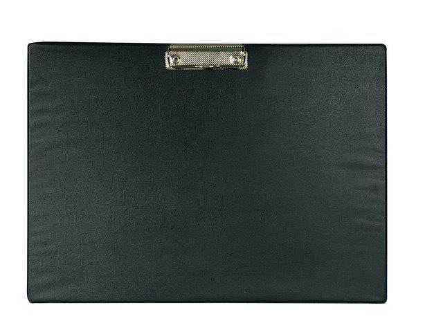 Clipboard simplu A3 - landscape negru, plastifiat PVC, Alco