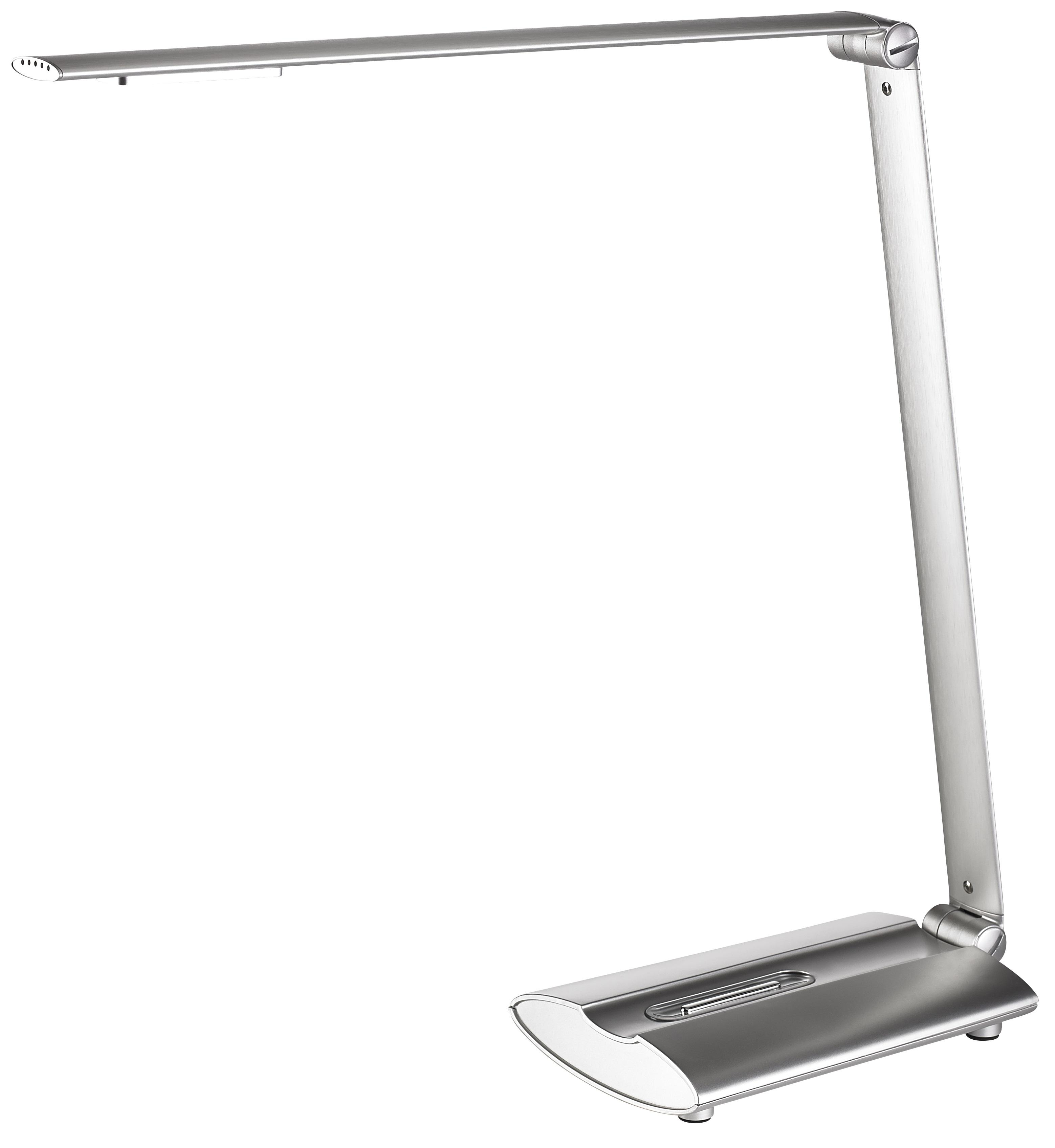 Lampa de birou cu led, 12 x 0.5W, 1800 lux - 40cm, cu brat articulat, ajustabila, ALCO - argintie