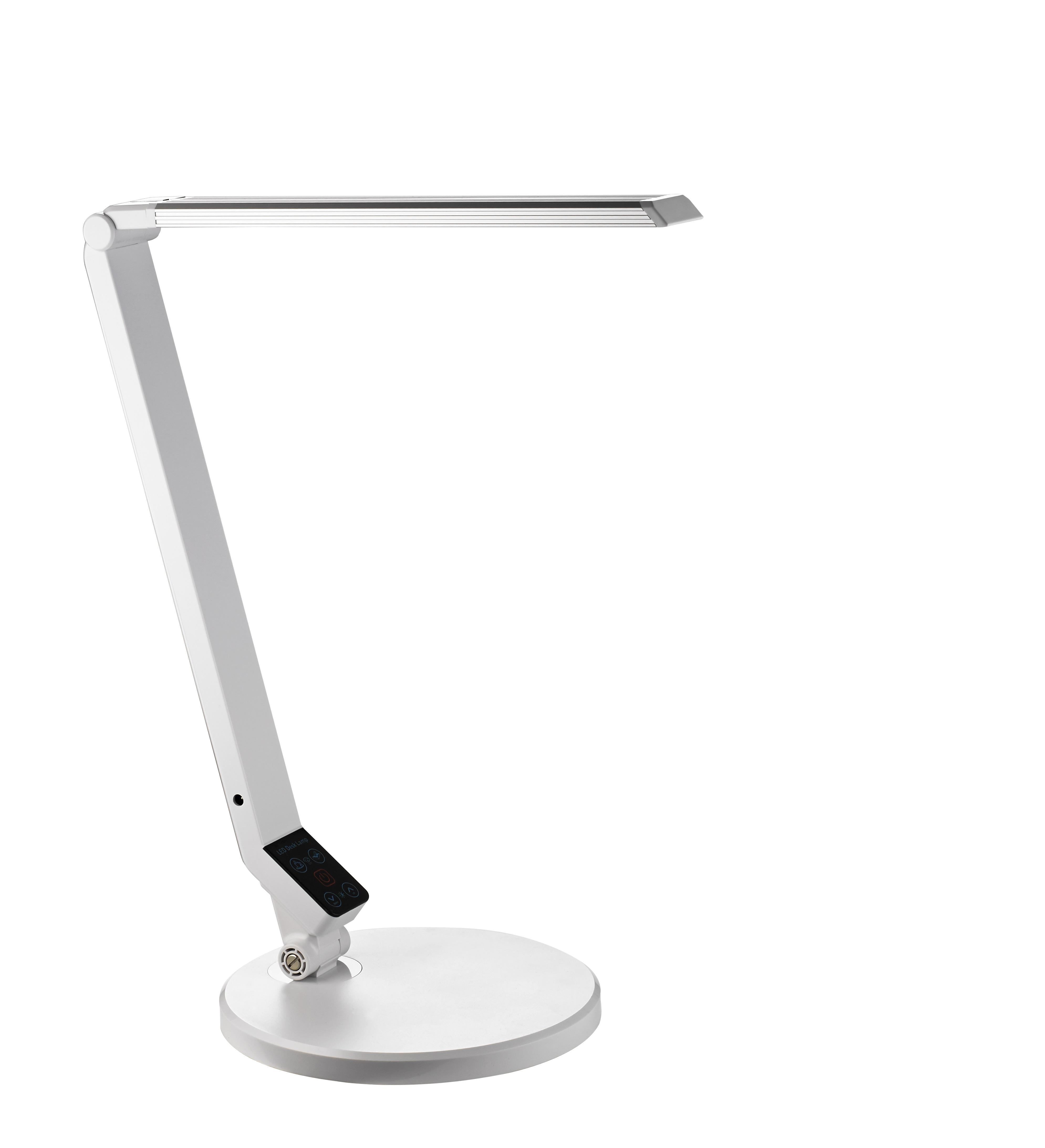 Lampa de birou cu led,  9W, 1100 lux - 35cm, ajustabila, ALCO - alba