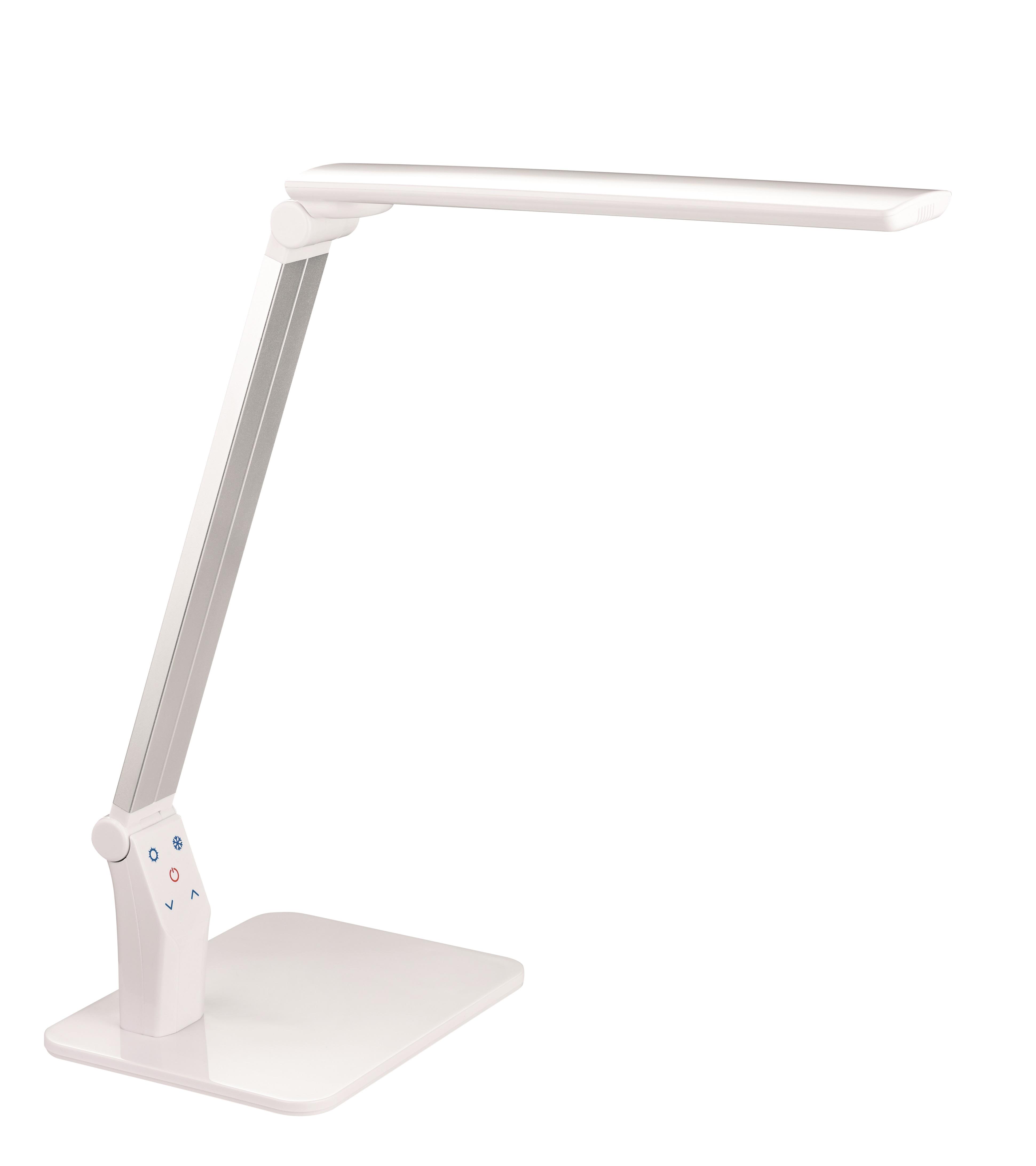 Lampa de birou cu led, 10W, 1400 lux - 35cm, cu brat articulat, ajustabila, ALCO - alba