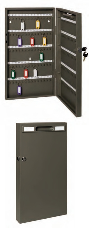 Panou metalic pentru 140 de chei, 270 x 515 x 52 mm, inchidere cu cheie, ALCO