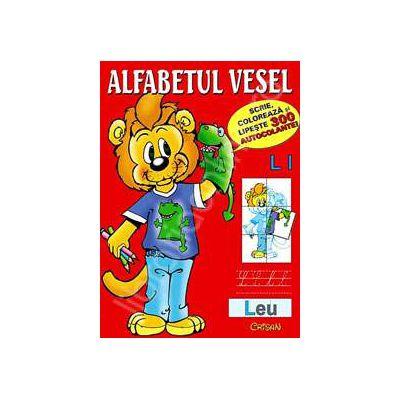 Alfabetul vesel (Scrie, coloreaza si lipeste 300 de autocolante!)