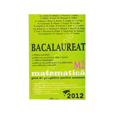 Bac 2012 matematica M2. Bacalaureat 2012 matematica ghid de pregatire pentru examen