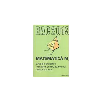Bacalaureat Matematica M2 - 2013. Ghid de pregatire intensiva pentru examenul de bacalaureat