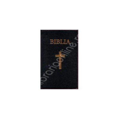 Biblia cu coperta cartonata pe culoarea neagra (50832)