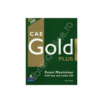 CAE Gold PLus Maximiser and CD - editie epuizata