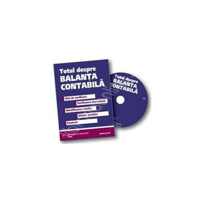 CD  - Totul despre balanta contabila. Chei de verificare, sfaturi practice, exemple