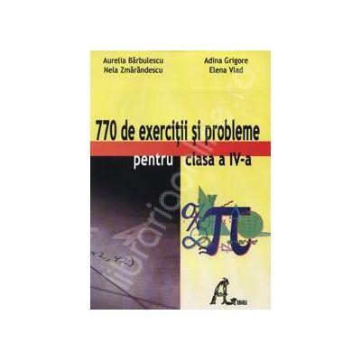 Culegere de matematica 770 exercitii si probleme pentru clasa a IV-a