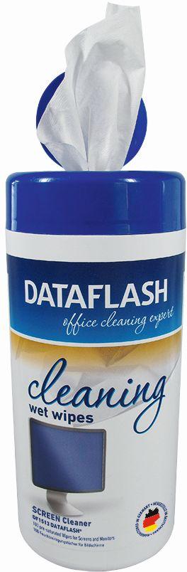 Servetele umede pentru curatare monitoare TFT/LCD/notebook, 100/tub, DATA FLASH