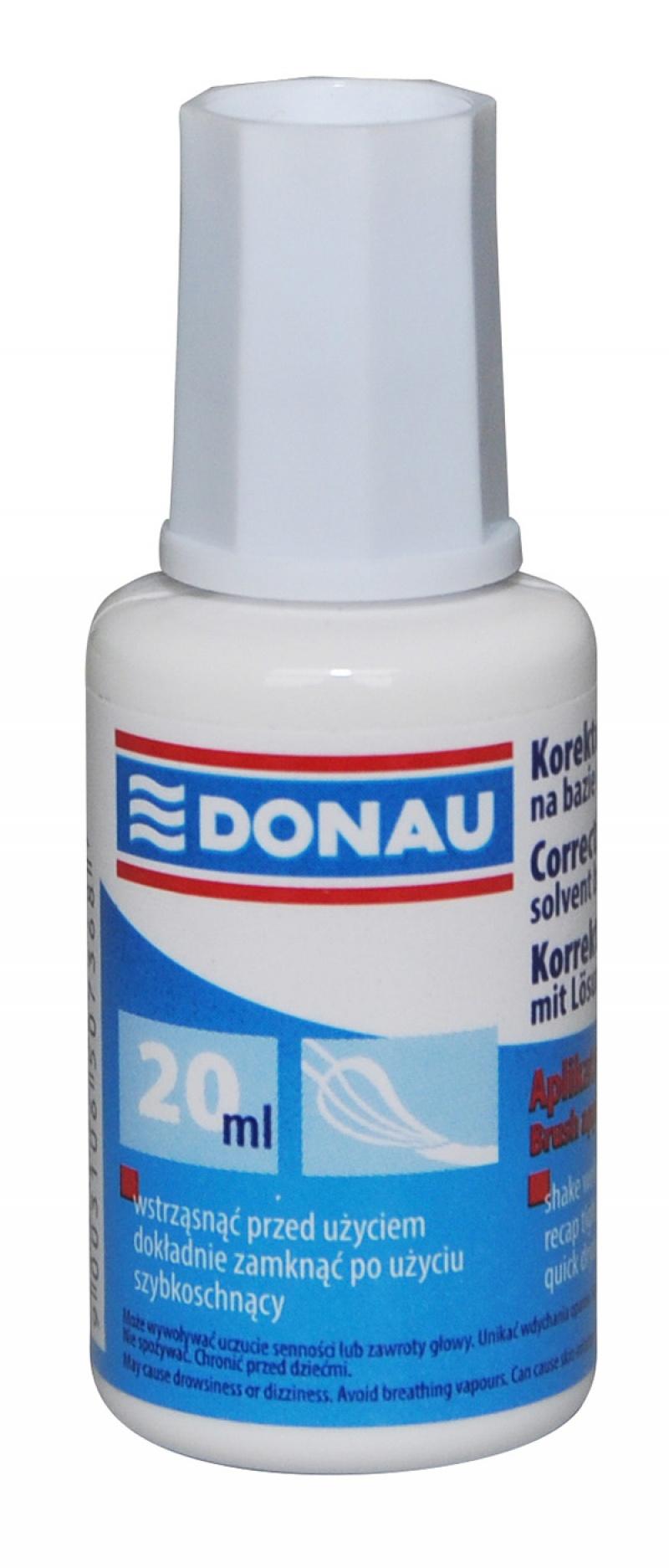 Fluid corector cu pensula, 20ml,  Donau