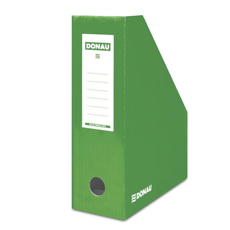 Suport vertical pentru cataloage, A4 - 10cm latime, din carton laminat, verde, Donau
