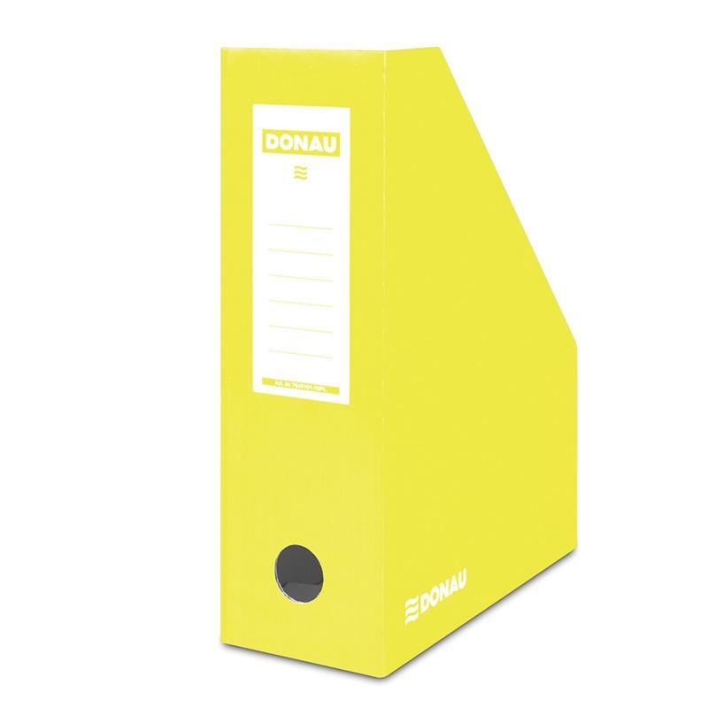 Suport vertical pentru cataloage, A4 - 10cm latime, din carton laminat, galben, Donau