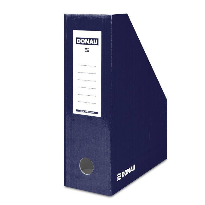 Suport vertical pentru cataloage, A4 - 10cm latime, din carton laminat, bleumarin, Donau