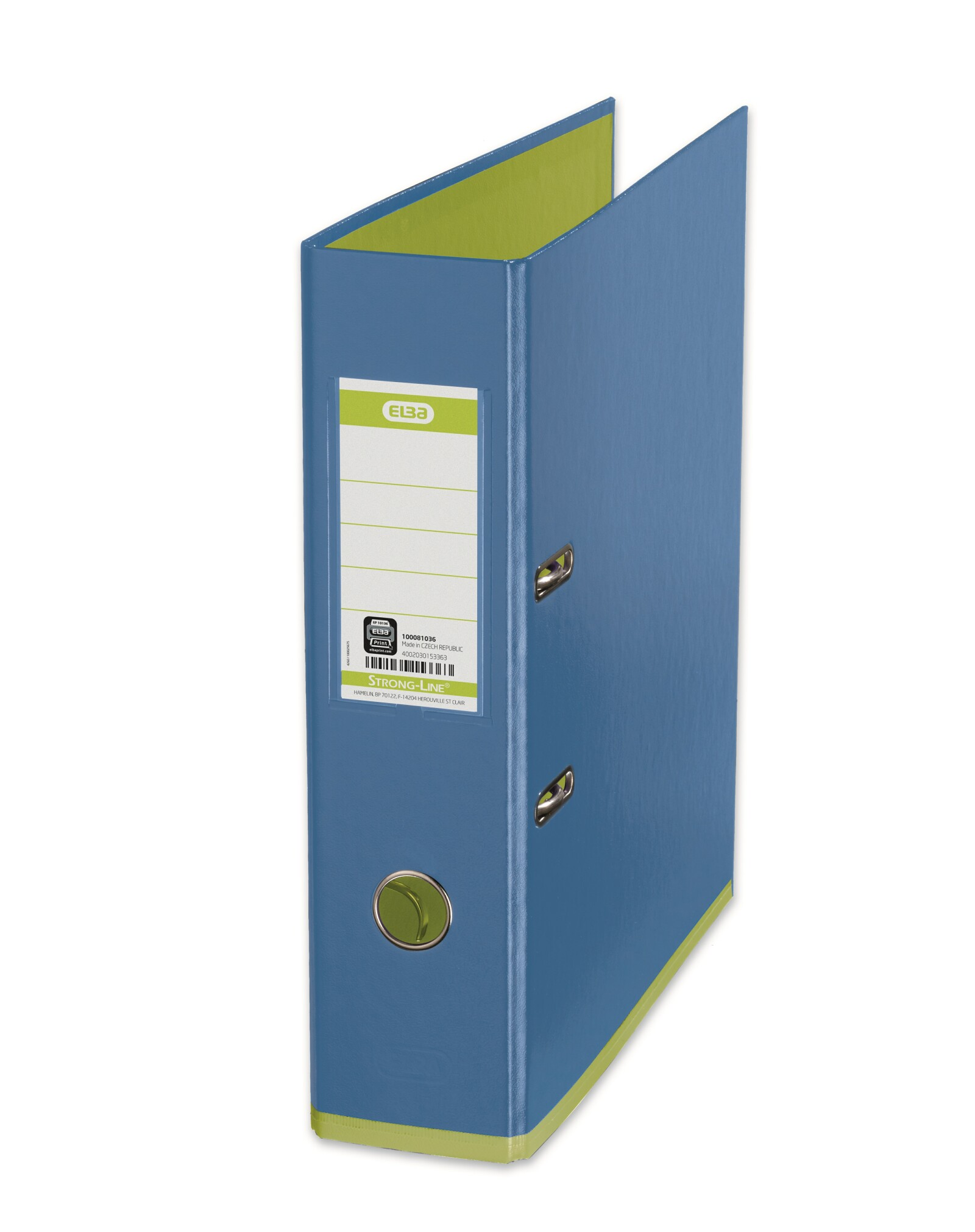 Biblioraft A4, plastifiat PP/PP, 80 mm, ELBA MyColour - bleu/verde deschis