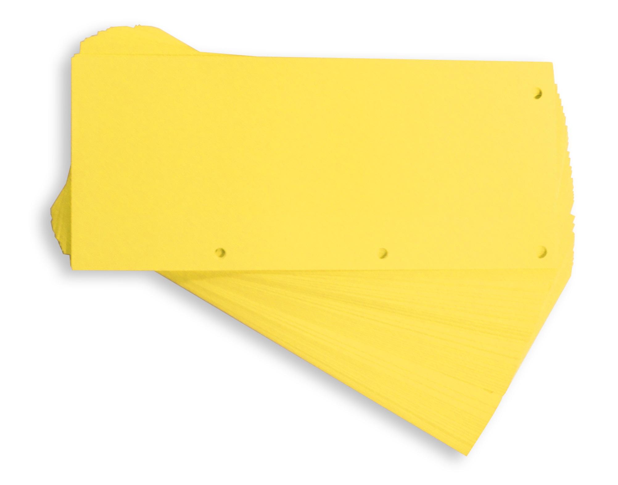 Separatoare carton pentru biblioraft, 190g/mp, 105 x 240 mm, 60/set, ELBA Duo - galben