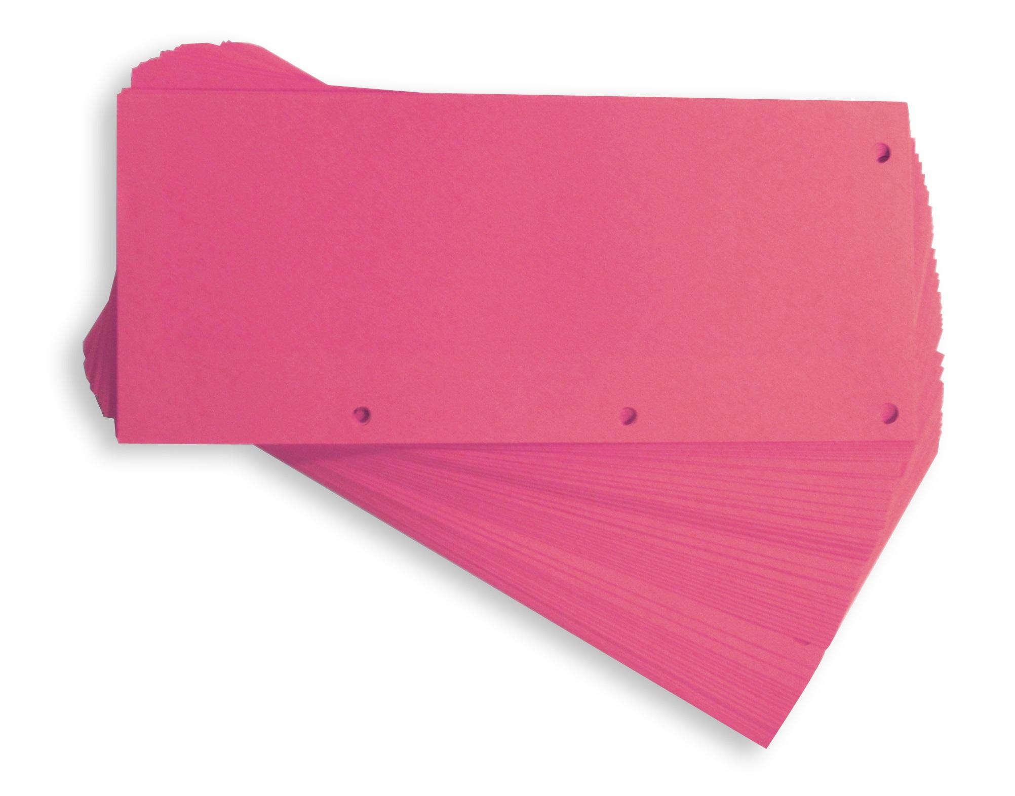 Separatoare carton pentru biblioraft, 190g/mp, 105 x 240 mm, 60/set, ELBA Duo - roz
