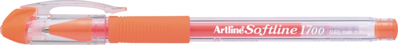 Pix cu gel Artline Softline 1700, rubber grip, varf 0.7mm - orange fluorescent