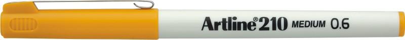 Liner Artline 210, varf fetru 0.6mm - galben