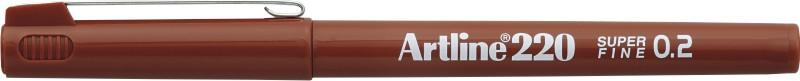 Liner Artline 220, varf fetru 0.2mm - maro