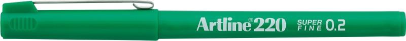 Liner Artline 220, varf fetru 0.2mm - verde