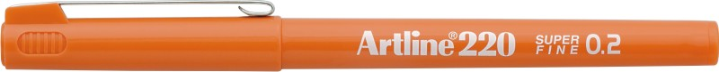 Liner Artline 220, varf fetru 0.2mm - portocaliu