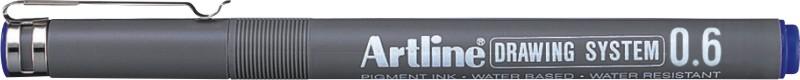 Marker pentru desen tehnic ARTLINE, varf fetru 0.6mm - albastru
