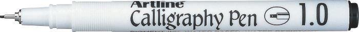 Marker ARTLINE Calligraphy, varf tesit din fetru 1.0mm - negru