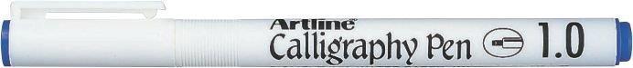 Marker Artline Calligraphy, varf tesit din fetru 1.0mm - albastru