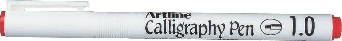 Marker Artline Calligraphy, varf tesit din fetru 1.0mm - rosu