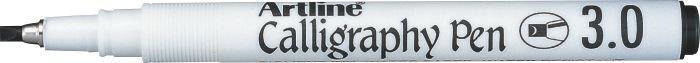 Marker Artline Calligraphy, varf tesit din fetru 3.0mm - negru