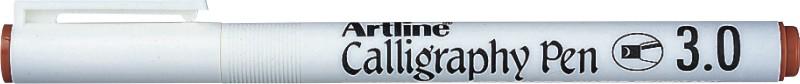 Marker Artline Calligraphy, varf tesit din fetru 3.0mm - maro