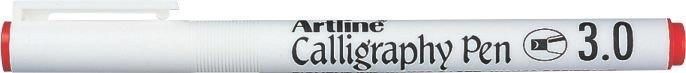 Marker Artline Calligraphy, varf tesit din fetru 3.0mm - rosu