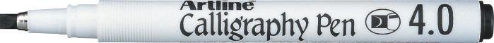 Marker Artline Calligraphy, varf tesit din fetru 4.0mm - negru