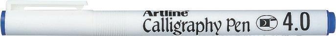 Marker Artline Calligraphy, varf tesit din fetru 4.0mm - albastru