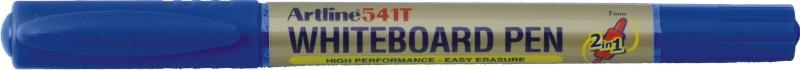 Marker pentru tabla de scris Artline 541T, doua capete - varfuri rotunde 0.4mm/1.0mm - albastru