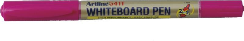 Marker pentru tabla de scris Artline 541T, doua capete - varfuri rotunde 0.4mm/1.0mm - roz