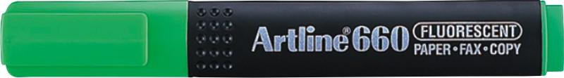 Textmarker ARTLINE 660, varf tesit 1.0-4.0mm - verde fluorescent