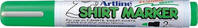 T-Shirt marker Artline, corp plastic, varf rotund 2.0mm - verde fluorescent