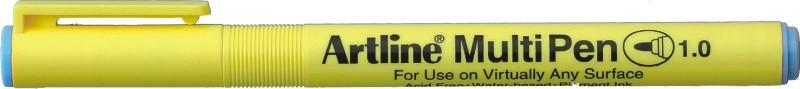 Marker universal ARTLINE Multi Pen, varf rotund 1.0mm - albastru pastel