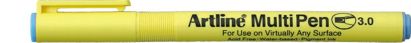 Marker universal ARTLINE Multi Pen, varf tesit 3.0mm - albastru pastel