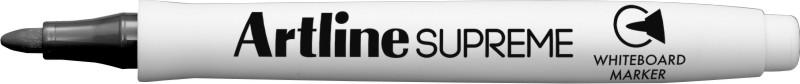 Marker pentru tabla de scris Artline Supreme - Dry safe ink, varf rotund 1.5mm - negru