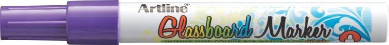 Marker pentru tabla de sticla ARTLINE Glassboard, varf rotund 2.0mm - violet